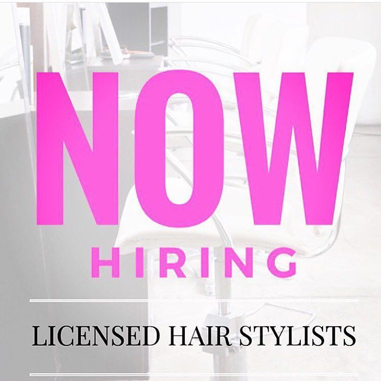 Luxe Salon Weave Blow Dry Bar On Instagram Now Hiring Hair Stylist That Are Ready For A Change For Themselves And Ca Hair Stylist Stylists Salon Booth Rental