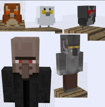 Ideas for new minecraft mobs: owls and different skins for villagers