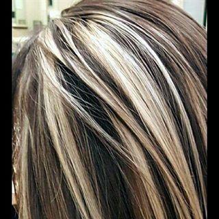 Websta Hairbyjamaiyka Chunky Blonde Highlights With Dark Brown Color Blonde Chunkyhig Hair Styles Dark Brown Hair With Blonde Highlights Hair Highlights
