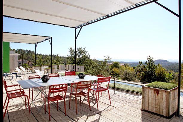 terrasse couverte toile - toile tendu blanche pergola   Pergolas ...