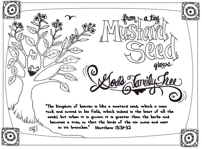 A FREE PRINTABLE Coloring Page And Devotion For The Parable Of Mustard Seed Great