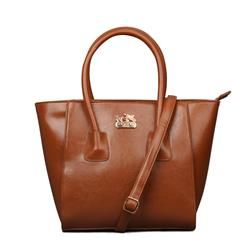 Coach Madison North South In Saffiano Small Brown Satchels EKM