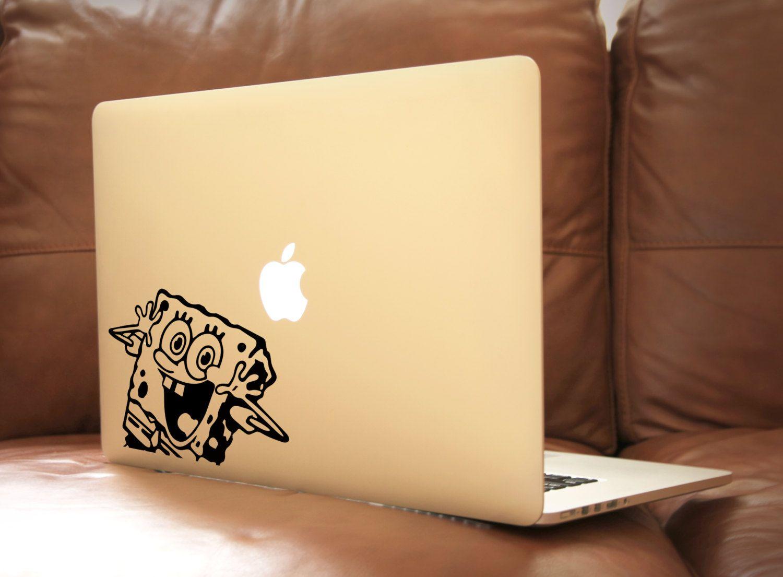 SpongeBob SquarePants LaptopDecal Macbook Apple VinylDecal - Spongebob macbook decal