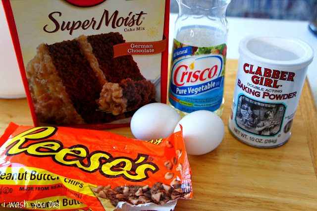 German Chocolate Peanut Butter Cake Batter Cookies Recipe Cake