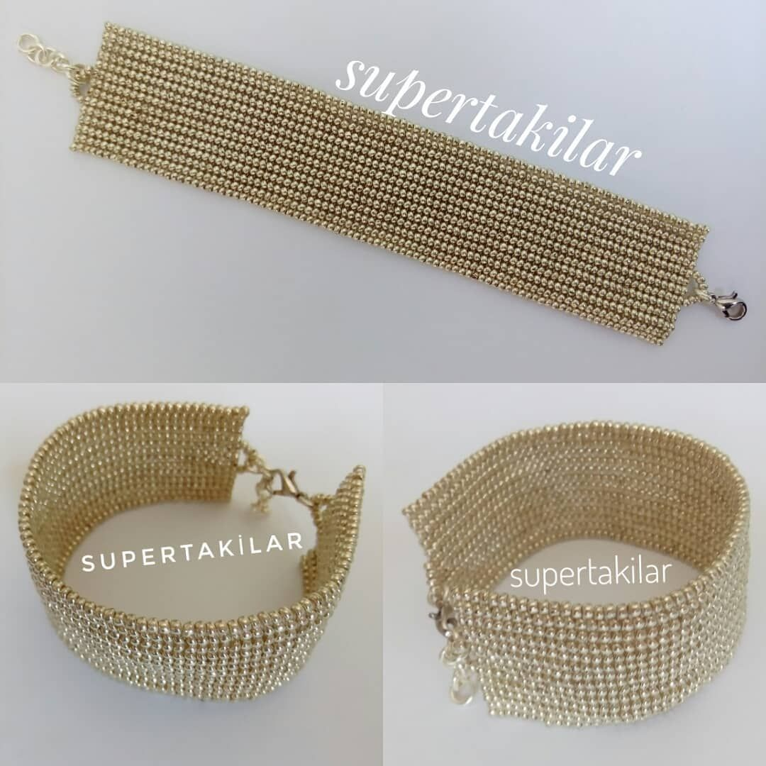Herringbone Bileklik Miyuki Handmade Supertakilar Bracelet Jewellery Beaded Clutch Bag Beaded Clutch Jewelry