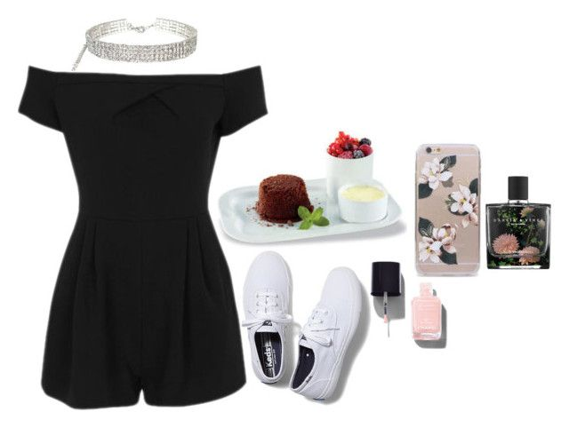 """""""snack 🍦"""" by imimidoll ❤ liked on Polyvore featuring Revol, Topshop, Chanel, Nest and Keds"""