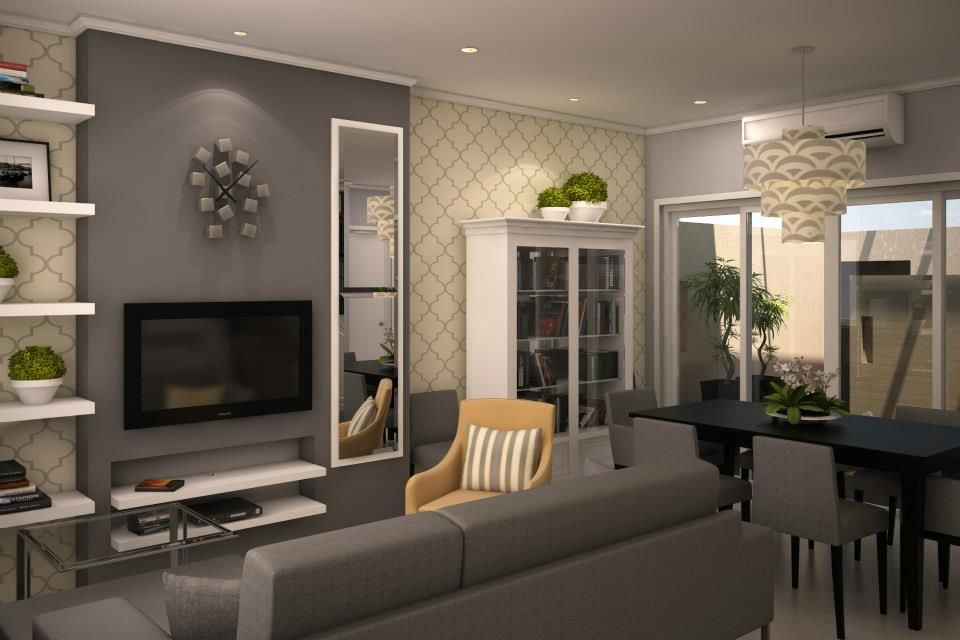 interesting black gray living room ideas | grey and yellow dining room decorating ideas | Interior ...