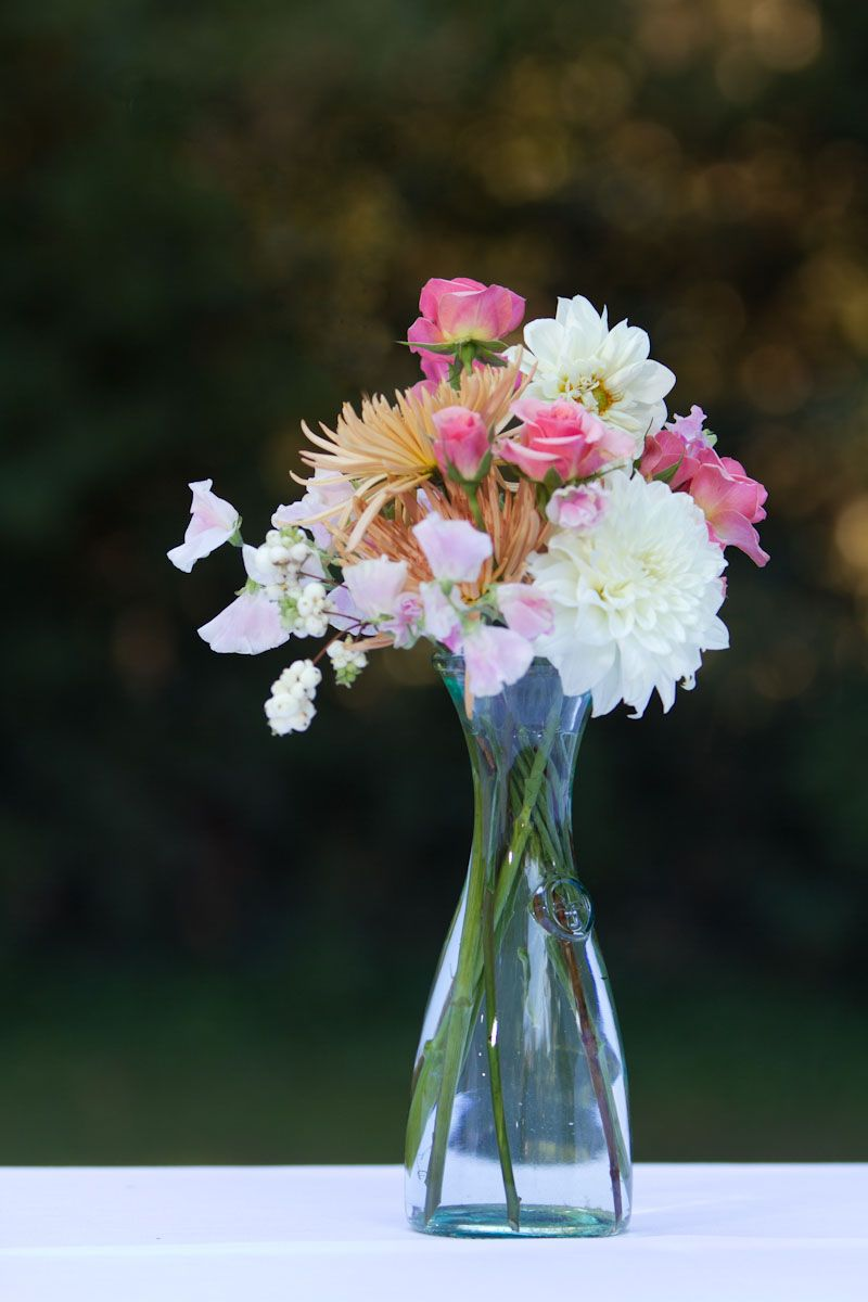 White Pink And Gold Vintage Centerpiece By Signature Bloom