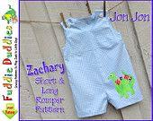 Baby Boy's Romper pattern, Jon Jon Pattern, Longall pdf sewing pattern. Short and Long Romper Pattern, 6mo-4t. $6.00, via Etsy.