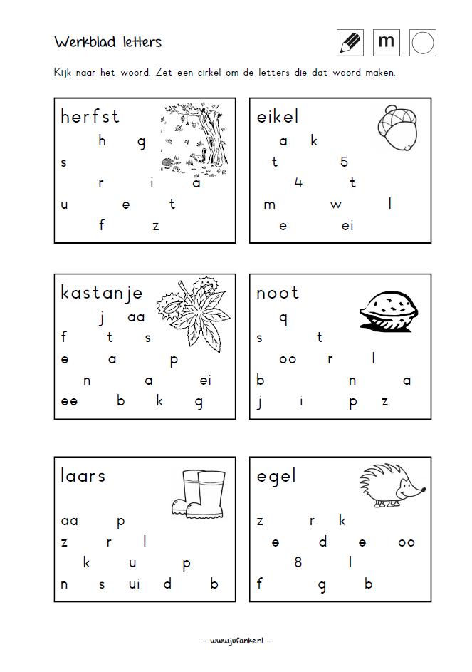 woordvormen met letters