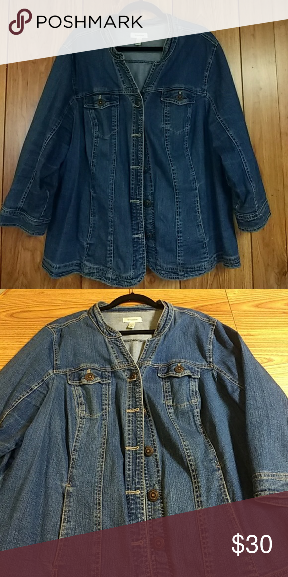 Jacket Blue Jean jacket Dress Barn Jackets & Coats Jean