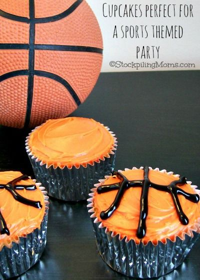 Basketball Cupcakes Recipe With Images Basketball Cupcakes