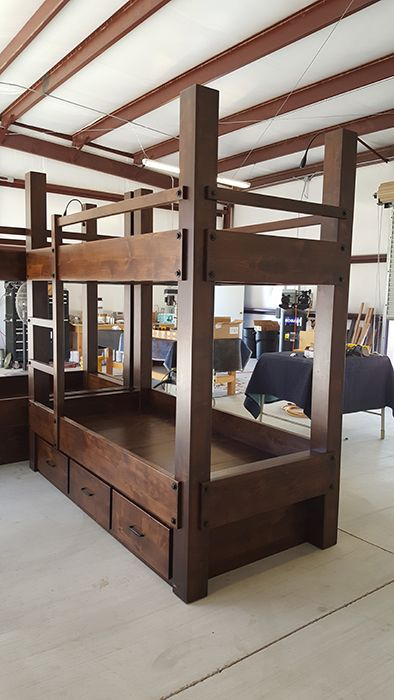 Custom Twin Xl Over Twin Xl Bunk Bed With Drawer Storage Bunk