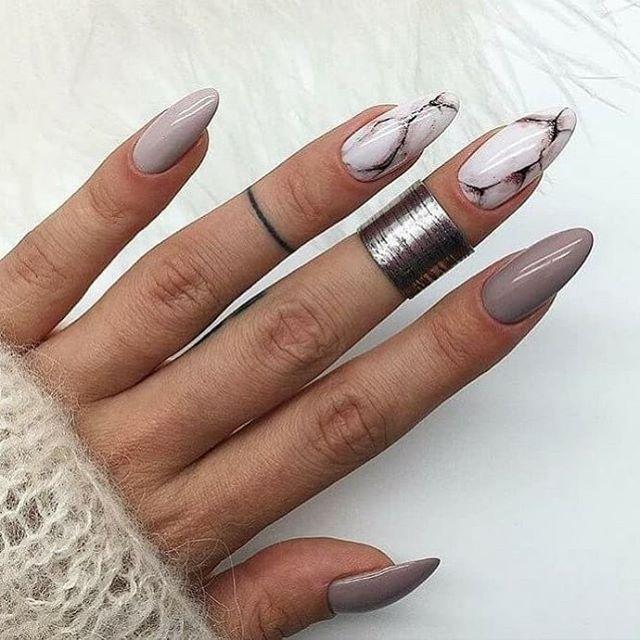 Ногти Дизайн Френч С Рисунком Осень