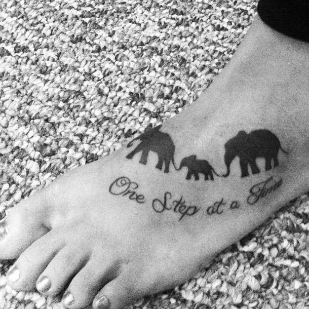 100 Awesome Animal Tattoos Family Tattoos Elephant Tattoos Elephant Family Tattoo