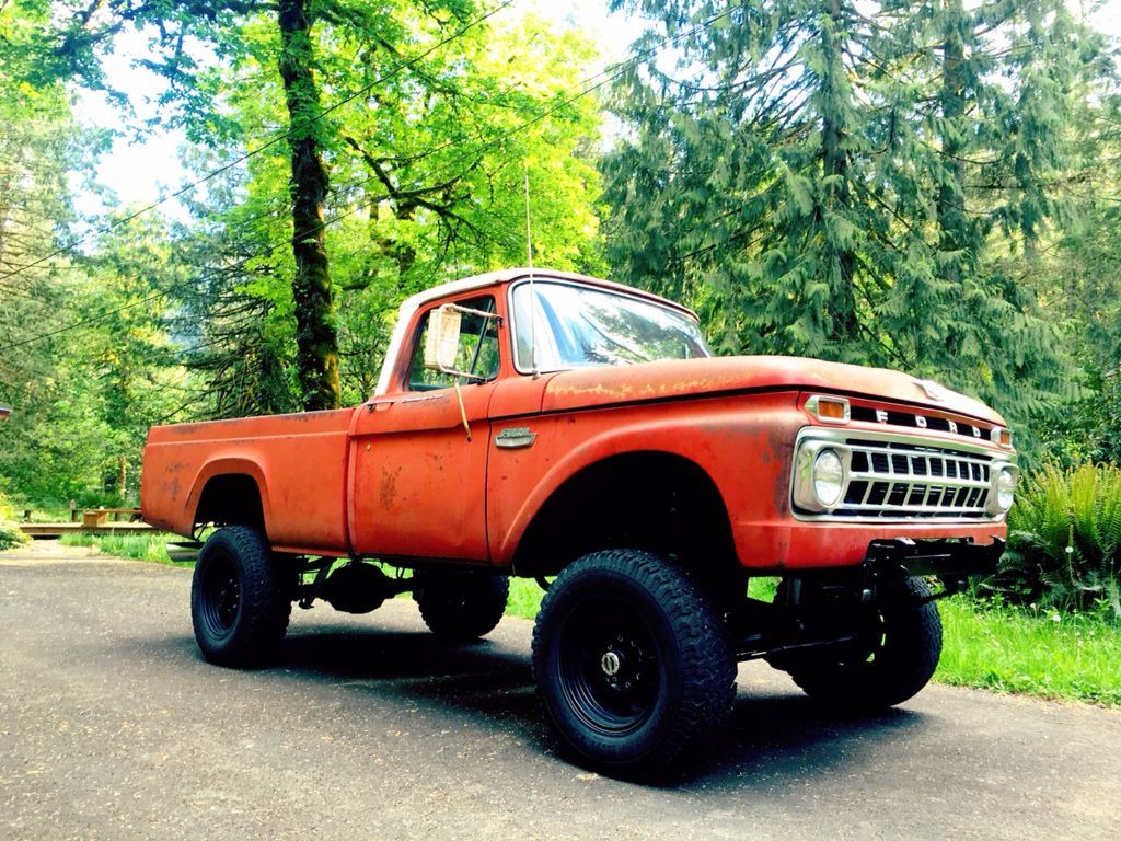 1965 ford f 250 with a 12valve cummins diesel old ford trucks