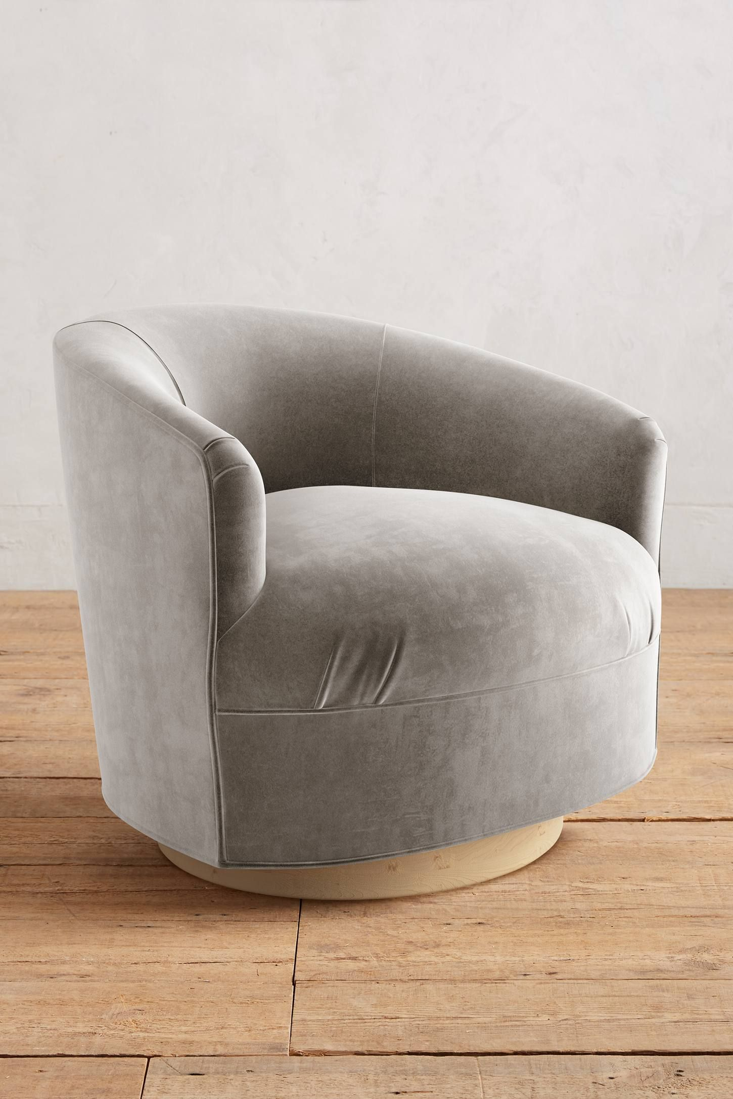 Velvet Amoret Swivel Chair Unique living room furniture