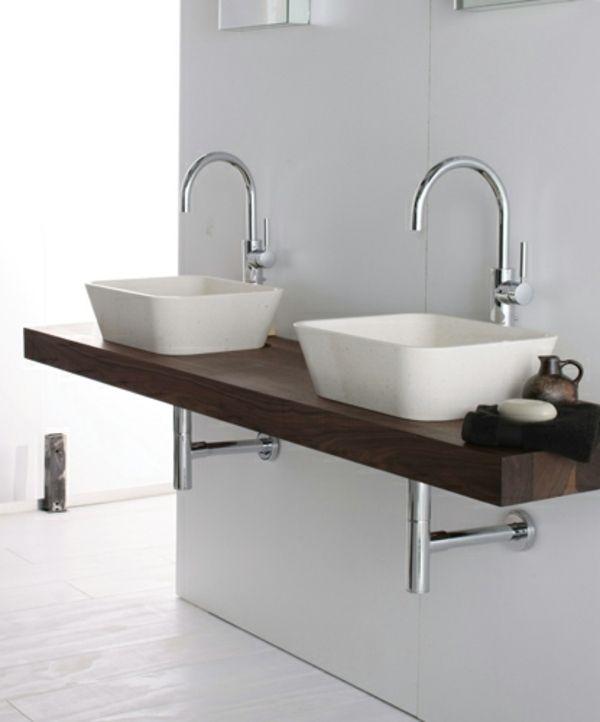 doppel waschbecken-waschtisch design | bad | pinterest - Badtisch Doppelwaschbecken