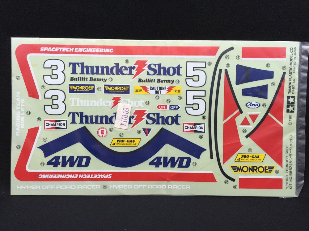 Tamiya Thunder Shot Decal Sheet 9495087