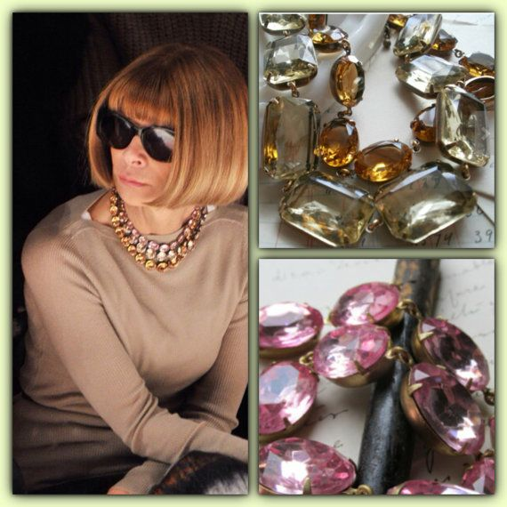Inspire Anna Wintour necklace pink statement by SacredCake