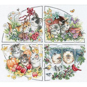 Dimensions Needlecrafts Counted Cross Stitch Cute Kitty