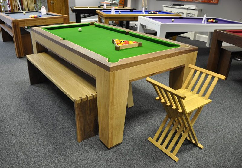 Designer Billiards Spartan Pool Table with dovetailed bench and ...
