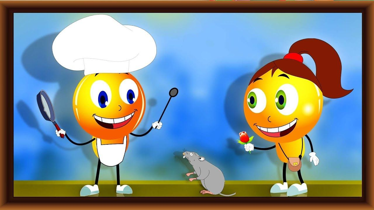 Animated Emoticons Cooking Food For Dinner Party With His Girlfriend