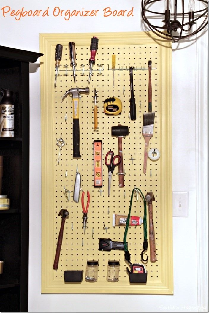 How to Make an Organized Pegboard   Easy, Walls and Organizations