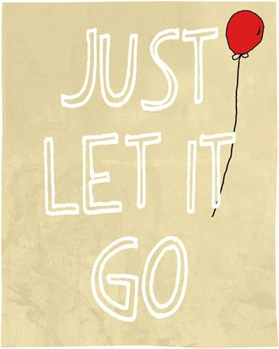 Just let it go - Quote Wall Art Decor Room Poster Canvas Print ...