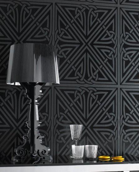 Viva: Black Gloss Wallpaper From Www.grahambrown.com