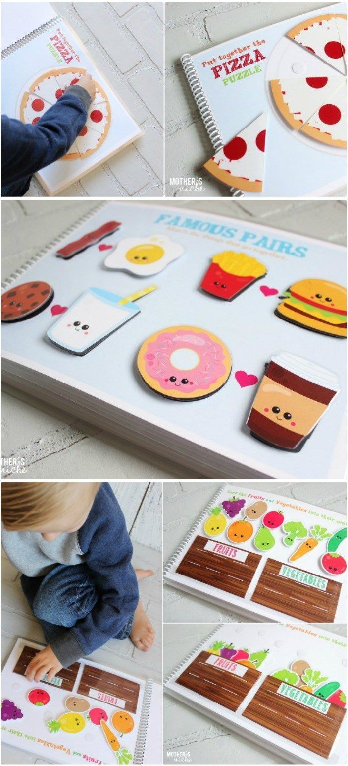 Yummy Food Quiet Book! Learning skills with the cu...