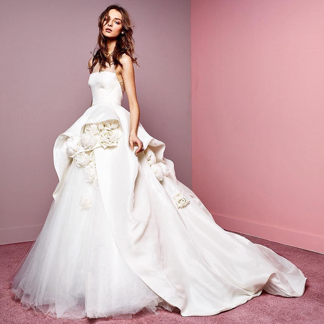 Wrapped up in romance xM #WeddingWednesday ##weddingdress #bride #moniquelhuillier #mlbride #love by moniquelhuillier