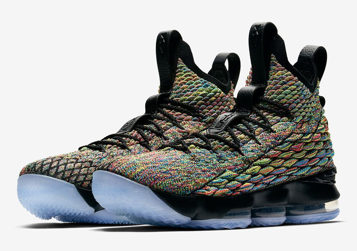 info for 93160 8c977 Previously thought to be another Fruity Pebble-inspired version of the  Flyknit-equipped LeBron 15, it turns out that this multi-color iteration is  dubbed ...