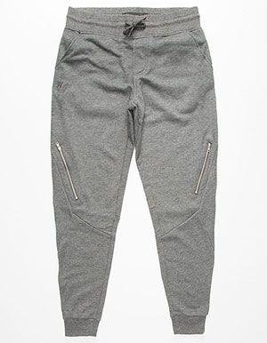 WELL VERSED Zippered Mens Jogger Pants  383e4d957a3d