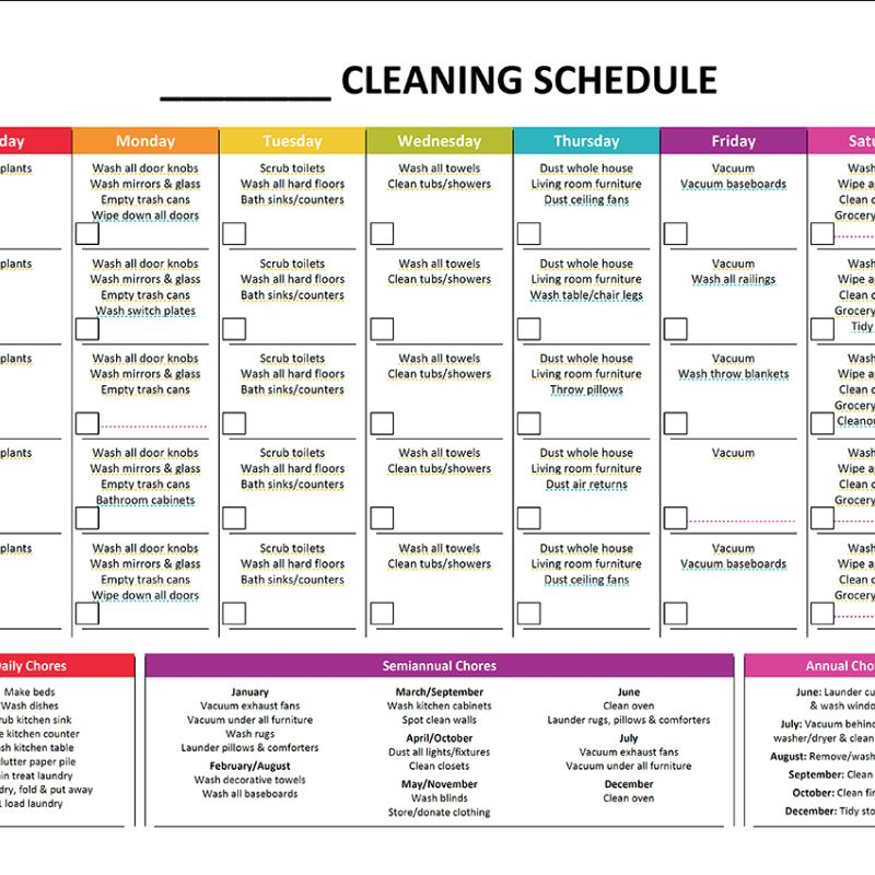 Complete Housekeeping Printable Set! Rainbows, Organizations and - annual budget template