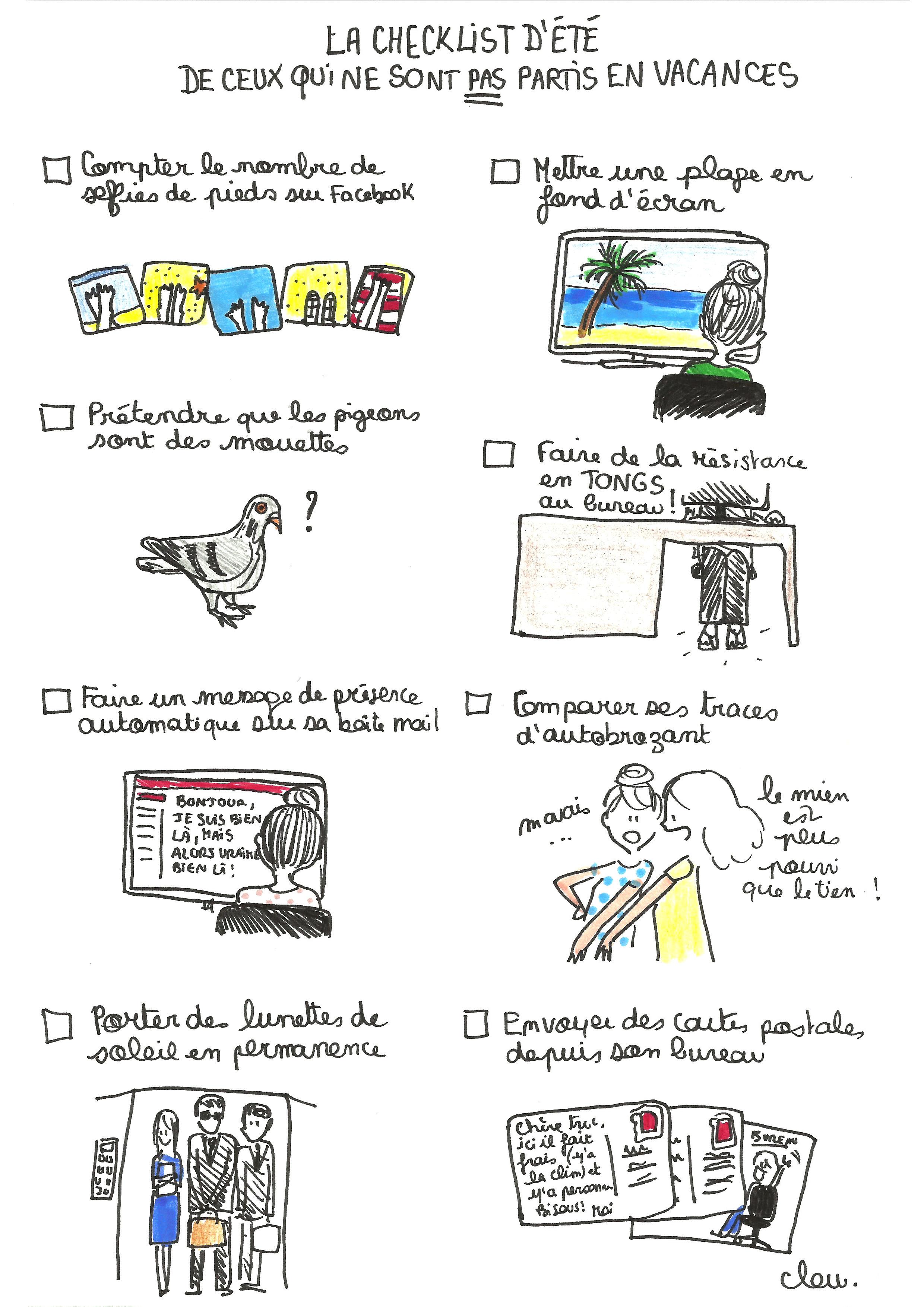 La Check List De Ceux Qui Ne Sont Pas En Vacances