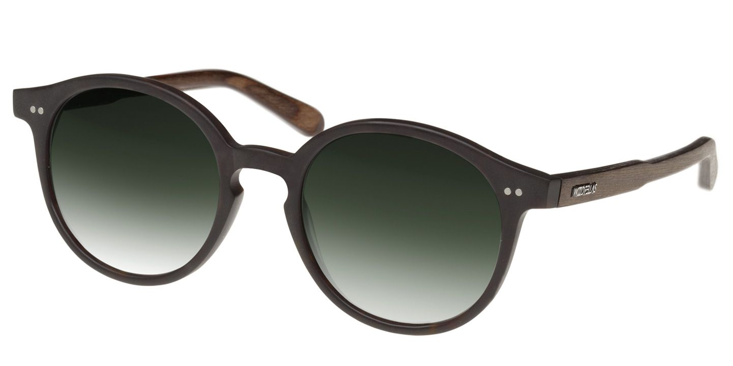 Holz-Sonnenbrille Solln (wood) (black/green)