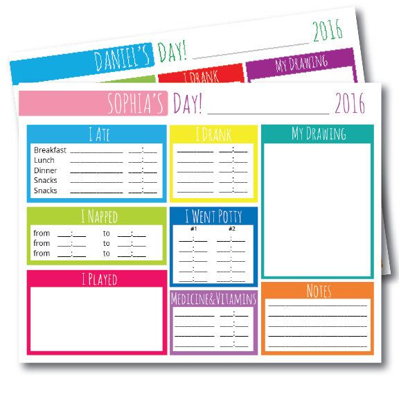 Nanny Planner Log, Babysitter Printable, Editable PDF