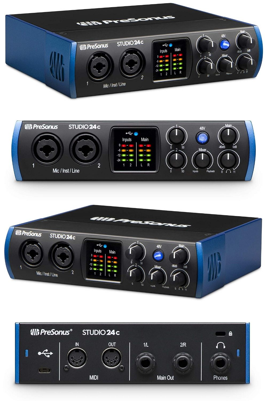 Presonus Studio 24c 2x2 192 Khz Usb C Audio Interface Note As