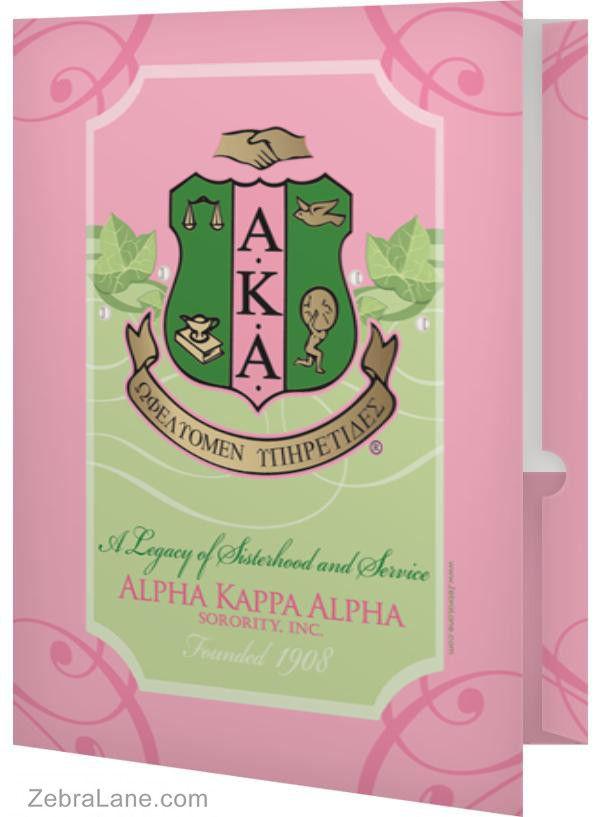 Alpha Kappa Alpha Ivy Shield Folder- Set of 2 from Zebra Lane ...