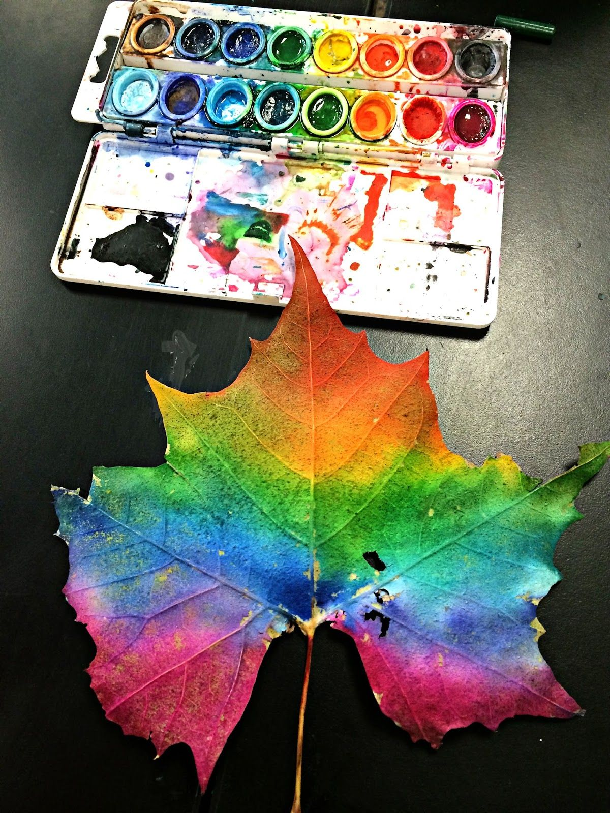 Fall N In Love With Leaf Printing