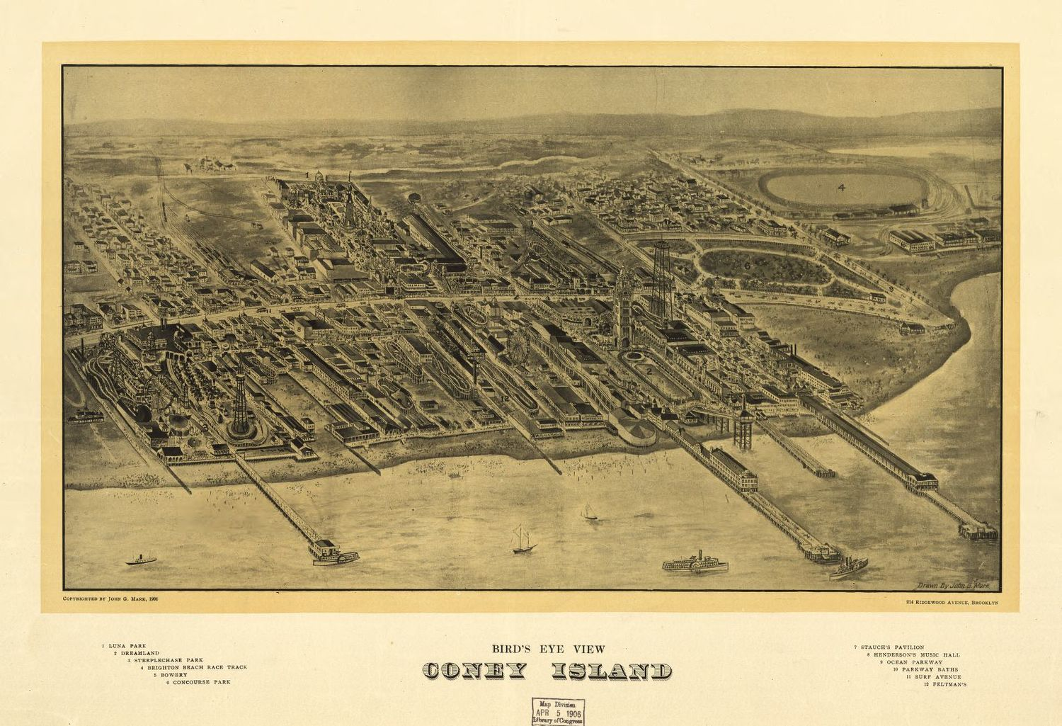 Antique Map Of Coney Island Vintage New York Wall Art Antique Maps - Framing a map print