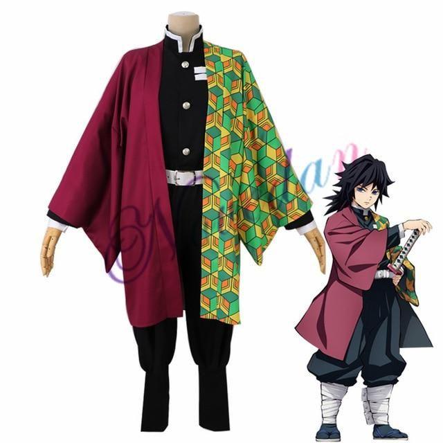 Photo of Anime Demon Slayer Costume Women Kimono Uniforms Clothes – Tomioka Giyuu / L / Kimetsu no Yaiba
