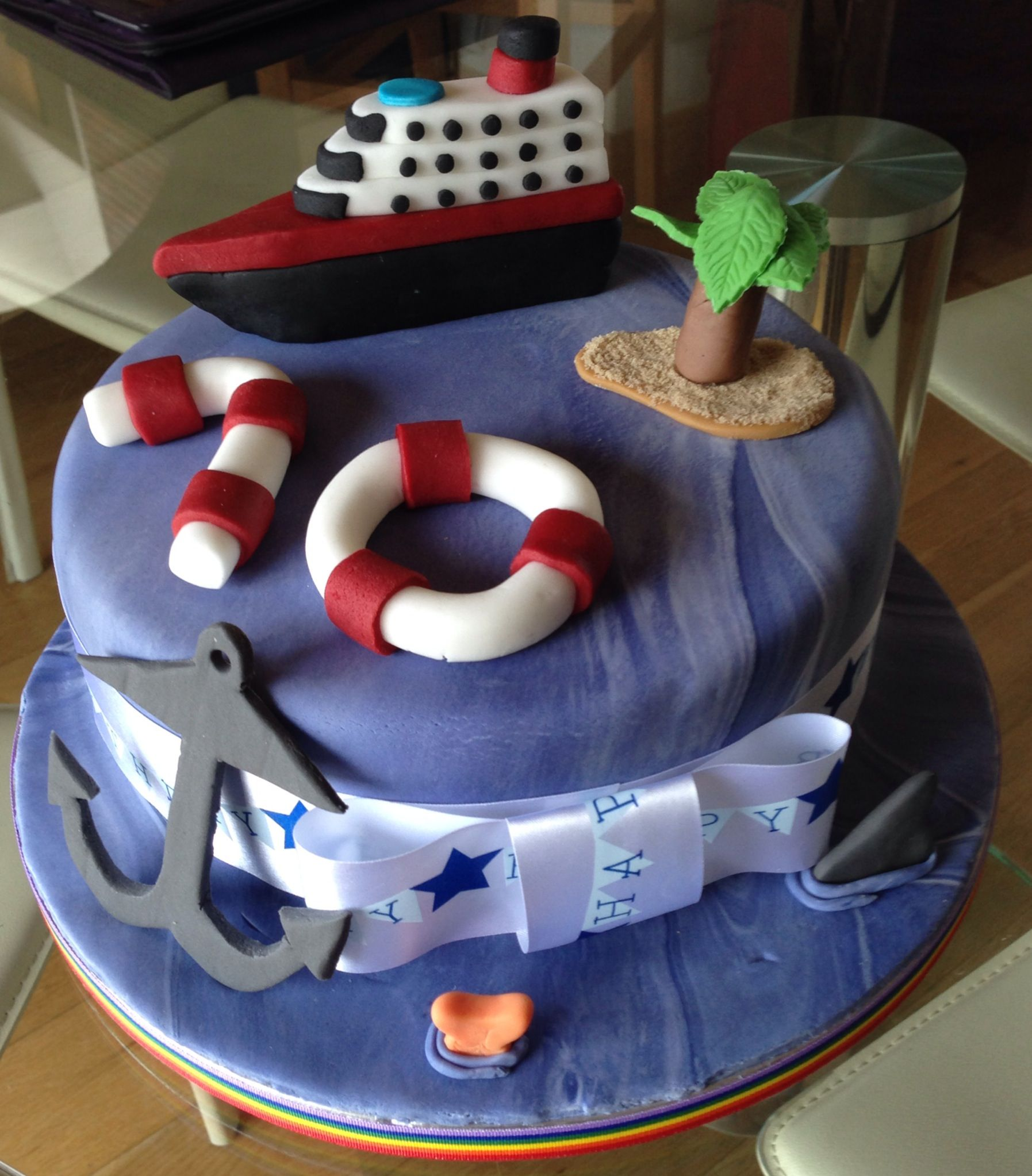 Cruise Ship 70th Birthday Cake wwwfacebookcomBleuBelleDesigns