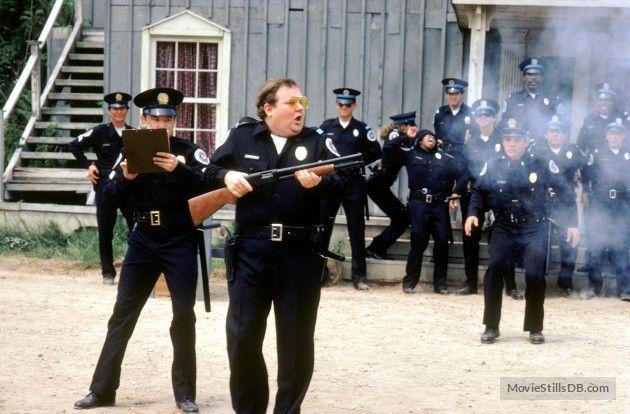 Police Academy Publicity Still Of G W Bailey Donovan Scott Police Academy Police Academy Movie Film