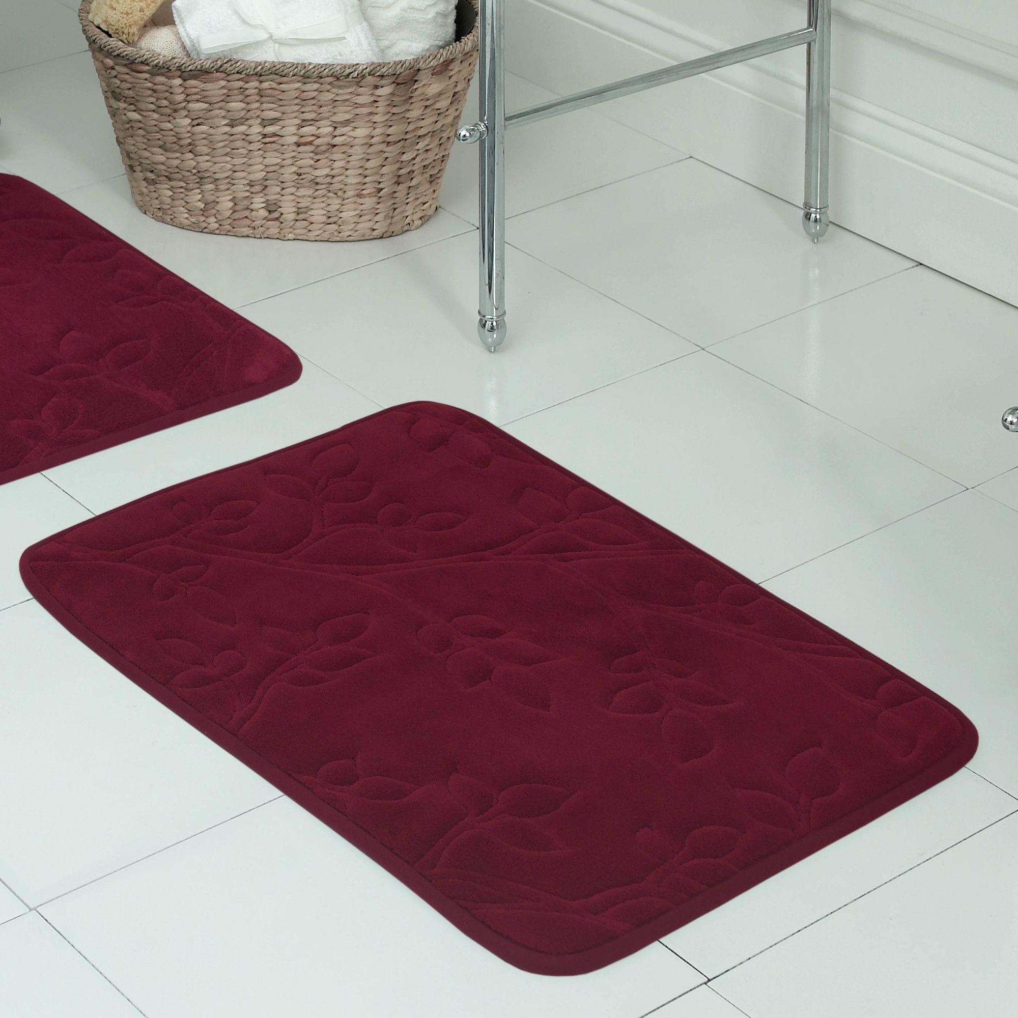 Spring Leaves Micro Plush Memory Foam Bath Mat Products Bath