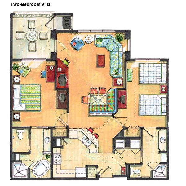 River island two bedroom villa other stuff pinterest 3 bedroom villa floor plans