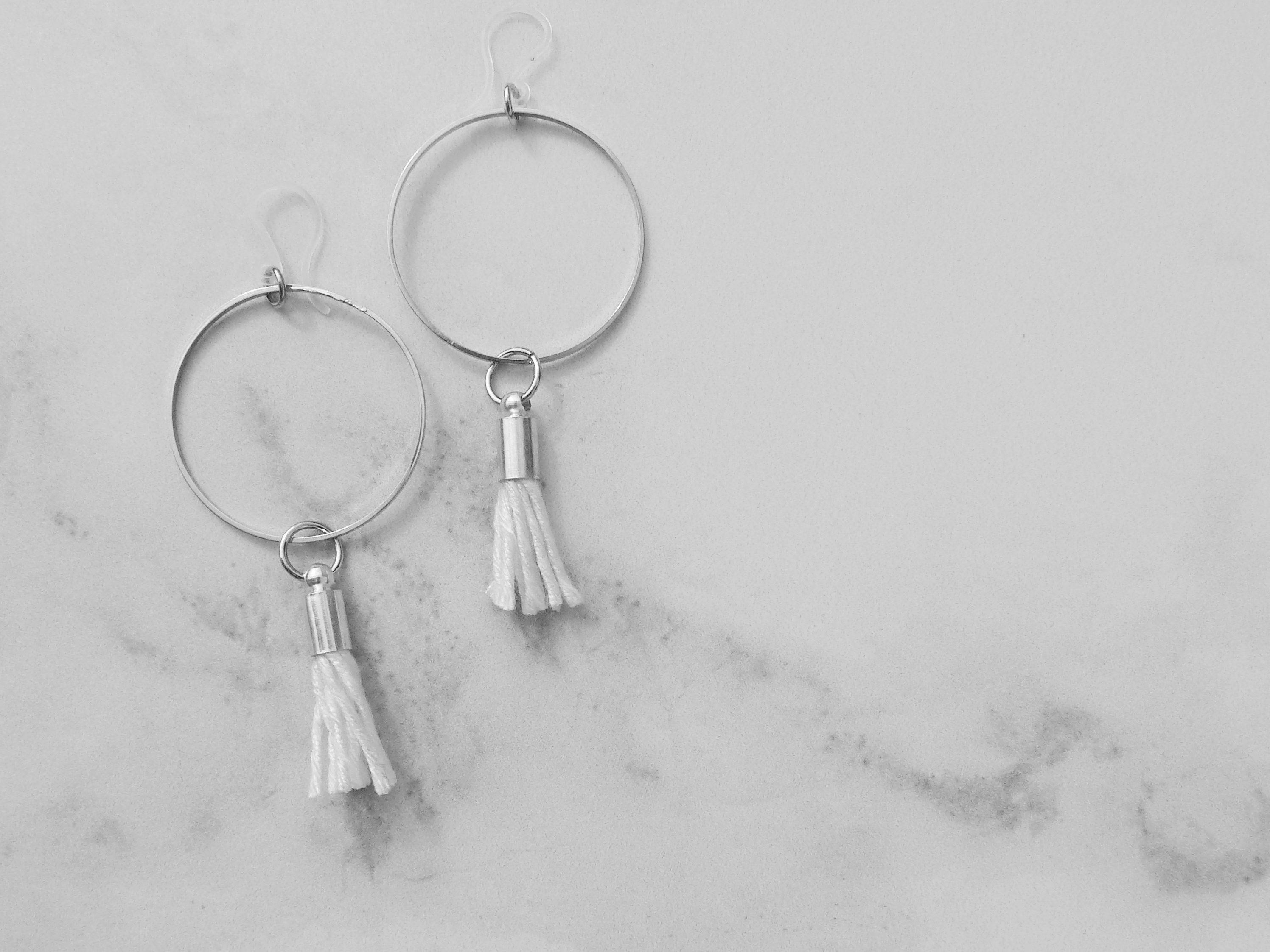 Hoop earrings gift for her boho jewelry minimalist earrings