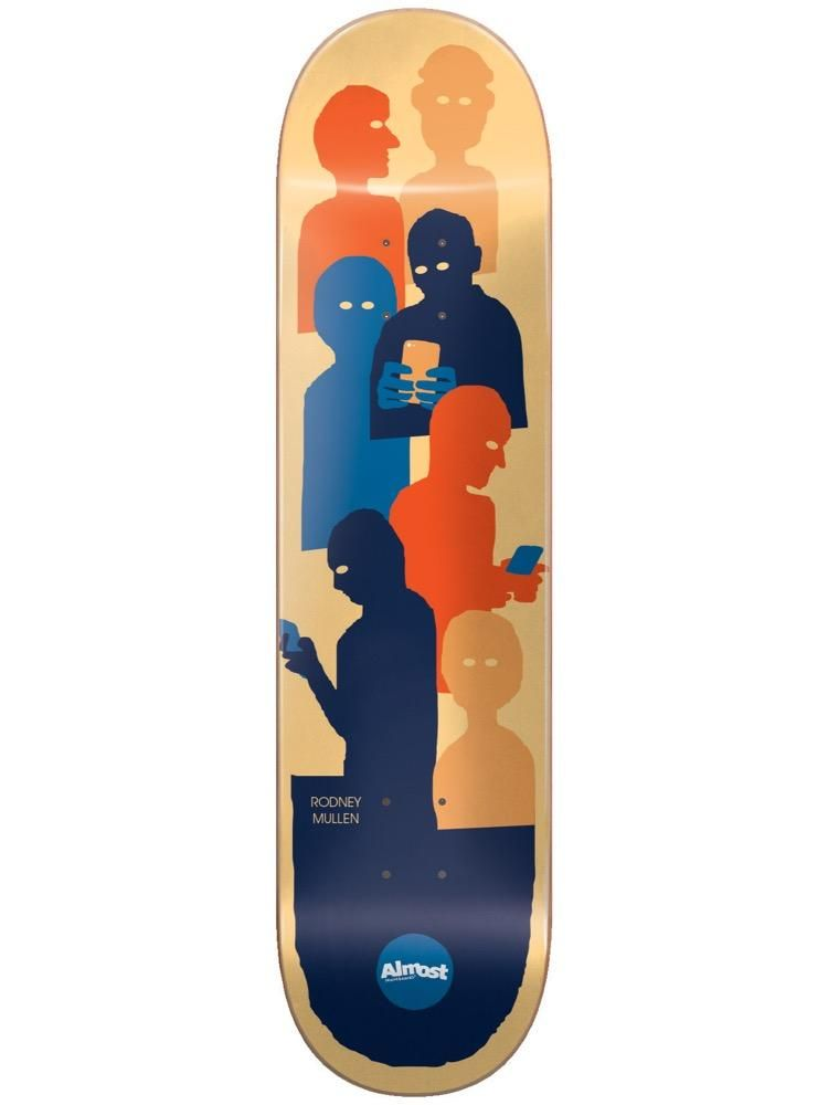 Almost Mullen Group Text 8 25 Impact Light Skateboard Deck Skateboard Decks Almost Skateboards Skateboard