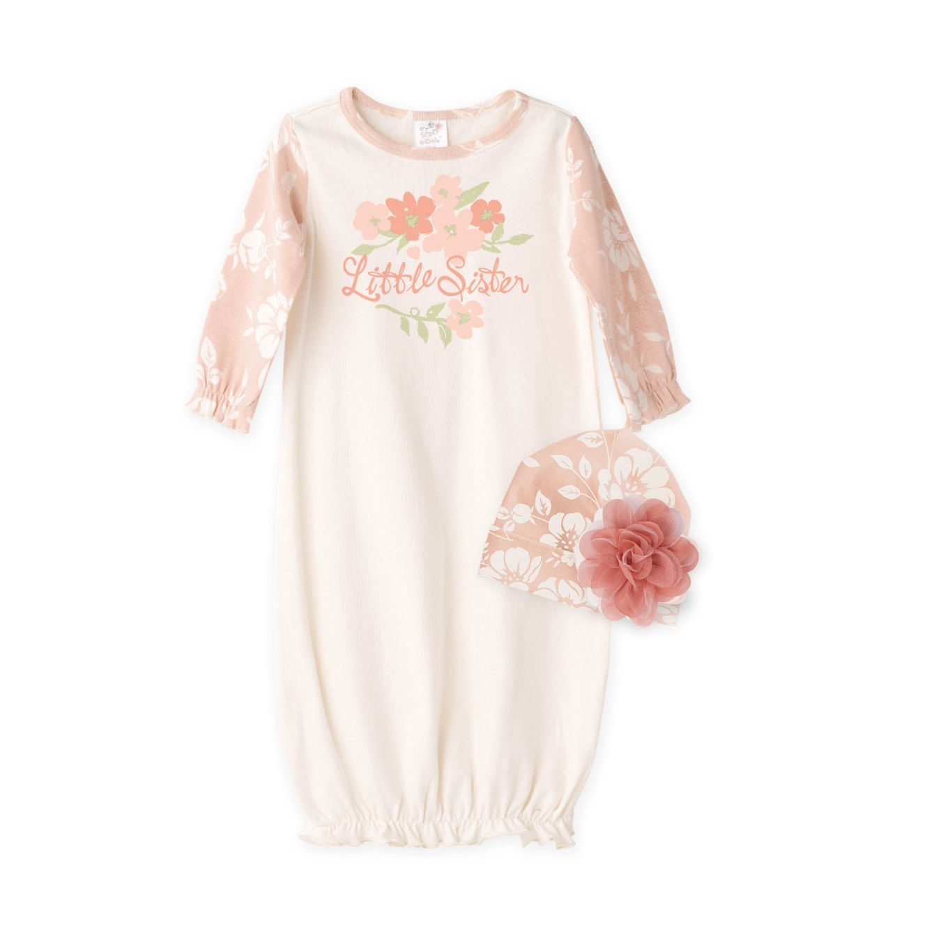Newborn Girl Take Home Outfit, Baby Gown, TesaBabe by TesaBabe on Etsy https://www.etsy.com/listing/479080173/newborn-girl-take-home-outfit-baby-gown